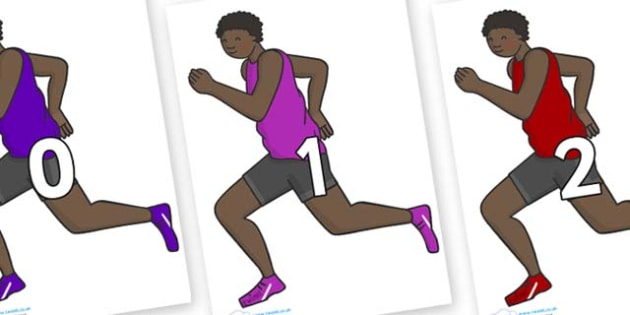 Numbers 0-100 on Runners - 0-100, foundation stage numeracy, Number recognition, Number flashcards, counting, number frieze, Display numbers, number posters