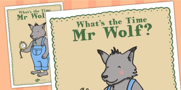 Large Display Poster to Support Teaching on What's The Time, Mr Wolf? - Time, Wolf, What