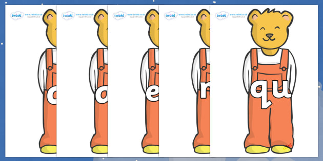 Phase 3 Phonemes on Bears (Whatever Next) to Support Teaching on Whatever Next! - Phonemes, phoneme, Phase 3, Phase three, Foundation, Literacy, Letters and Sounds, DfES, display