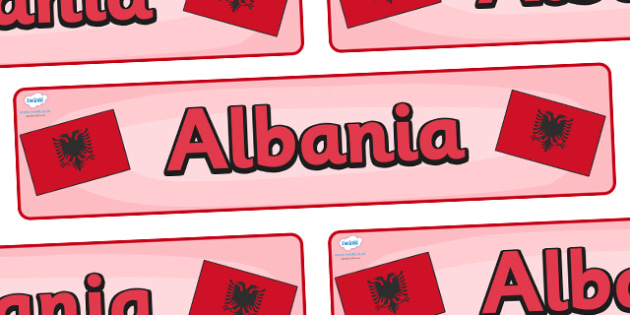 Albania Display Banner - Albania, Olympics, Olympic Games, sports, Olympic, London, 2012, display, banner, sign, poster, activity, Olympic torch, flag, countries, medal, Olympic Rings, mascots, flame, compete, events, tennis, athlete, swimming