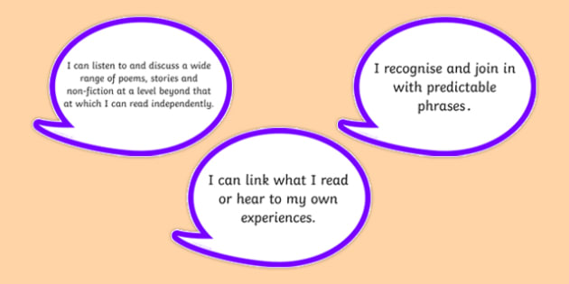 2014 Curriculum Year 1 English Reading Assessment I Can Bubbles