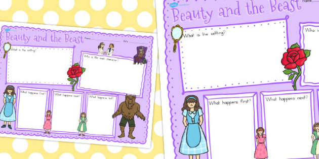 Beauty and the Beast Book Review Writing Frame - australia, write