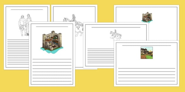 Middle Ages Writing Frames - middle ages, medieval, history, writing frames
