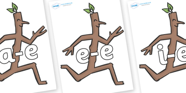 Modifying E Letters on Stick Man to Support Teaching on Stick Man - Modifying E, letters, modify, Phase 5, Phase five, alternative spellings for phonemes, DfES letters and Sounds