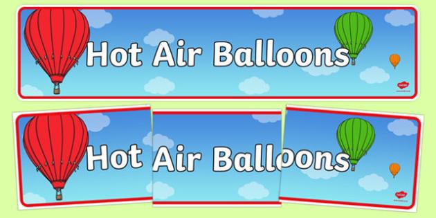 Hot Air Balloons Display Banner