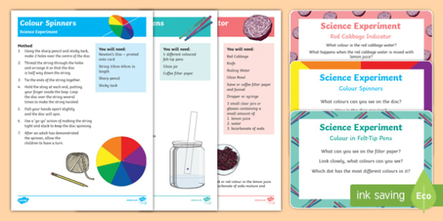 Colour Science Experiments Resource Pack