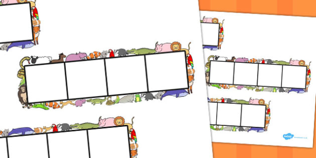 Animal Phoneme Frames - Phoneme Frames printable, animals, phoneme frame, phoneme, phonemes, Segmenting, DfES Letters and Sounds, Letters and sounds, KS1 Literacy, Phase one, Phase 1, Phase two, Phase 2, Phase three, Phase 3
