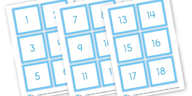 Numbers - Counting Flashcards Primary Resources, flash card, number line, numberlines, maths, numeracy, count, Early Years (EYFS), KS1 Primary Teaching Resources