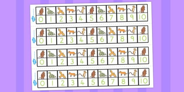 The Gruffalo Number Track 0-10 - australia, gruffalo, number