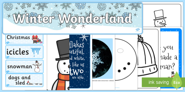 Ready Made Winter Wonderland Display Pack - ready made, winter, pack