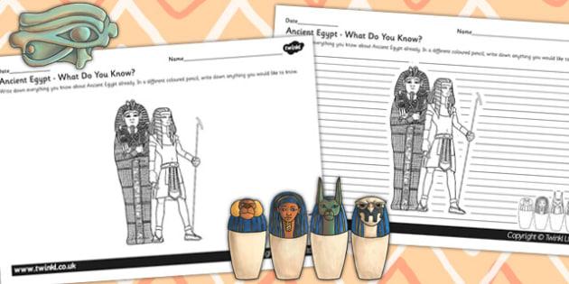 Ancient Egypt Mind Map Worksheets - egypt, mind map, worksheet