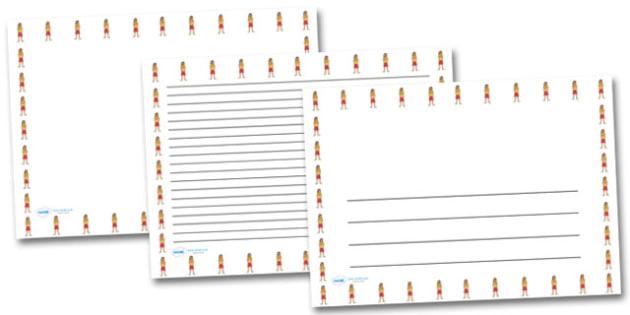 Female Lifeguard Landscape Page Borders- Landscape Page Borders - Page border, border, writing template, writing aid, writing frame, a4 border, template, templates, landscape