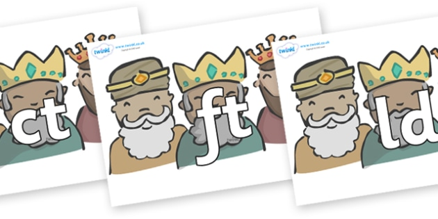 Final Letter Blends on Three Kings - Final Letters, final letter, letter blend, letter blends, consonant, consonants, digraph, trigraph, literacy, alphabet, letters, foundation stage literacy