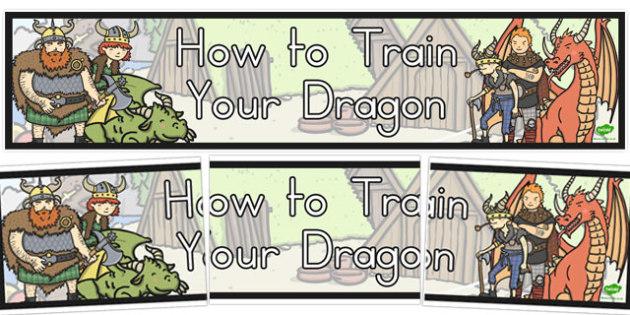 How to Train Your Dragon Display Banner - australia, train, dragon