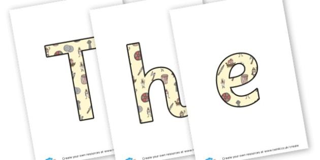 Viking Lettering - display lettering - KS2 Vikings Display Primary Resources, Vikings, Viking Display