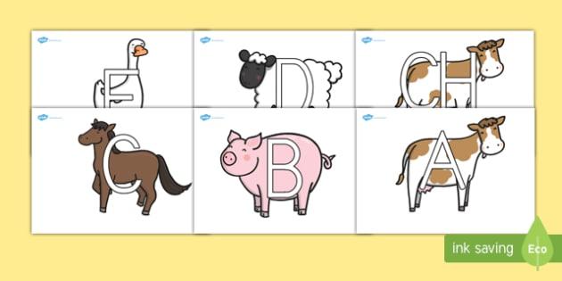 El abecedario en los animales de la granja Pack de exposición