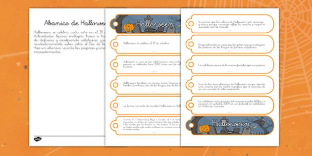 Halloween info Abanico de comunicación