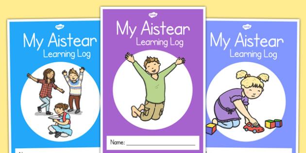 My Aistear Learning Log Cover - roi, irish, republic of ireland, aisteear, learning log, cover