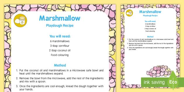Marshmallow Playdough Recipe - marshmallow, playdough, recipe, activity