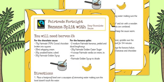 Fairtrade Fortnight Banana Split Recipe - fairtrade, recipe