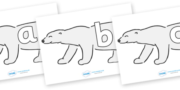 Phoneme Set on Polar Bears - Phoneme set, phonemes, phoneme, Letters and Sounds, DfES, display, Phase 1, Phase 2, Phase 3, Phase 5, Foundation, Literacy