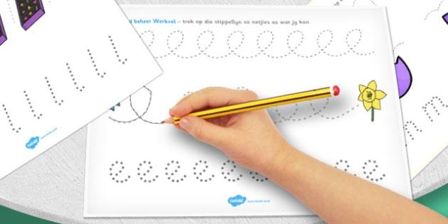 Afrikaans Easter Pencil Control Worksheets - afrikaans, easter