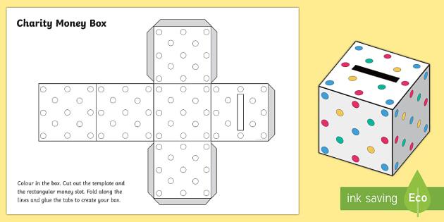 Money Box Cube Activity