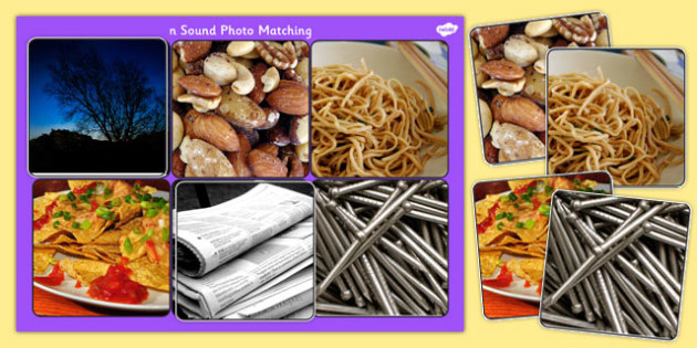 Initial n Sound Photo Matching Board and Cards - sounds, phonics