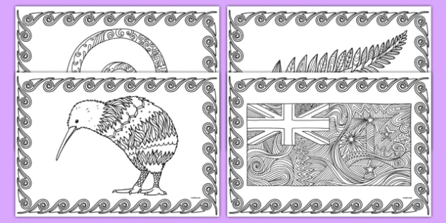 New Zealand Mindfulness Colouring Sheets - nz, new zealand, mindfulness, colouring, colour, de-stress, calm down