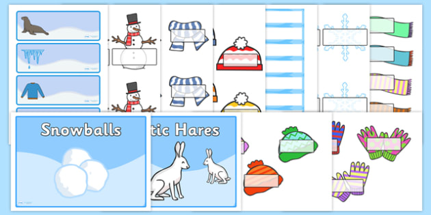 Winter Classroom Signs and Labels Resource Pack - winter, signs