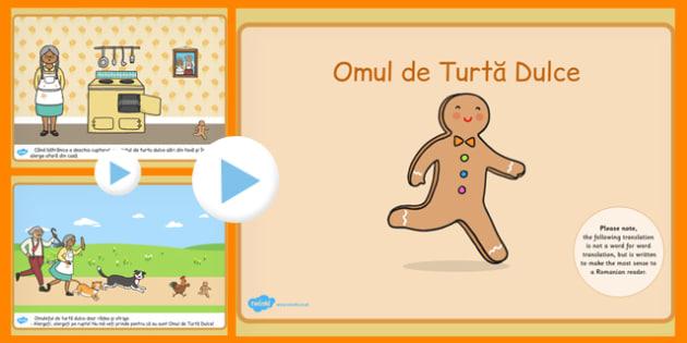 Omul de Turta Dulce, poveste cu imagini, powerpoint, Romanian