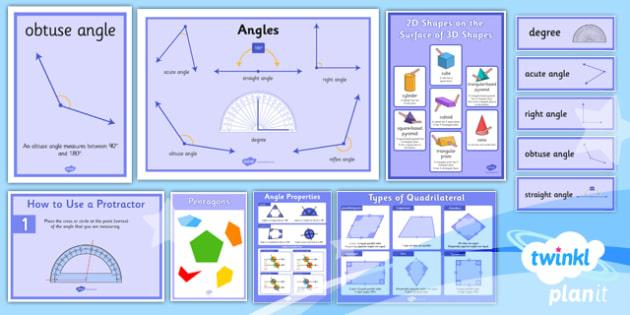 PlanIt Y5 Properties of Shapes Display Pack - PlanIt, Properties of Shapes, shapes challenge