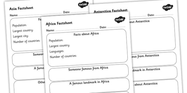 Places Around the World Sheet Writing Template Pack - geography