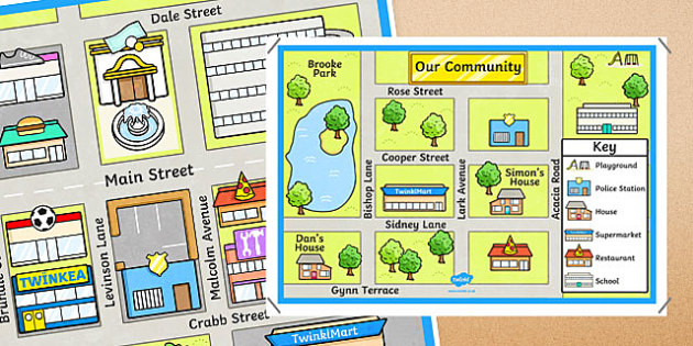 Town and Tourist Attraction Maps - australia, road map, street map, campsite, zoo, picnic ground, directions, position, location, route, compass points, Location and Transformation, Australian Curriculum