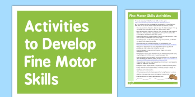 Fine Motor Skills Gross Motor Skills Activities - gross motor