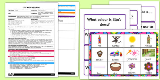 Diwali Slam Game EYFS Adult Input Plan and Resource Pack