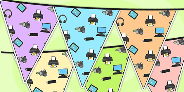 ICT Area Themed Bunting - ICT, IT,  classroom areas, bunting