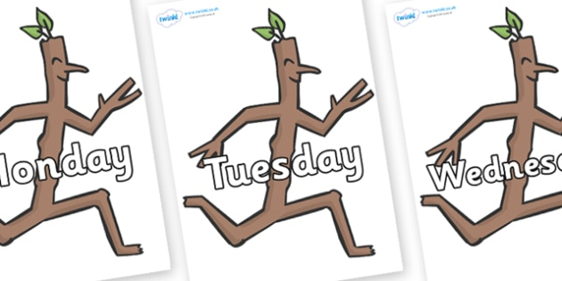 Days of the Week on Stick Man to Support Teaching on Stick Man - Days of the Week, Weeks poster, week, display, poster, frieze, Days, Day, Monday, Tuesday, Wednesday, Thursday, Friday, Saturday, Sunday