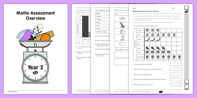 Year 2 Maths Assessment: Statistics Term 1 - assessments, math, assess, year 2, statistics, term 1