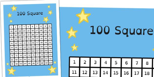 100 Square Dyslexia - maths, counting, SEN, KS2, Key Stage 2, Australia