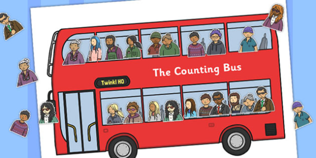 The Counting Bus Activity - counting, bus, activity, count, game