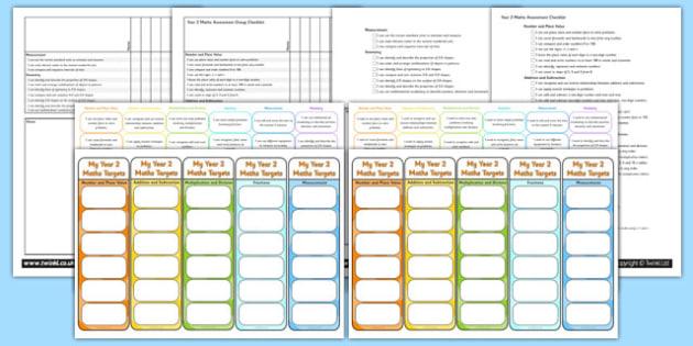 Year 2 Maths Assessment Pack - math, numeracy, assessment, assess