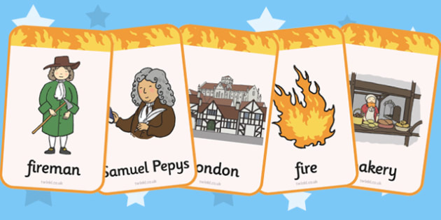 The Great Fire of London Flash Cards - Great, Fire, London, Flash