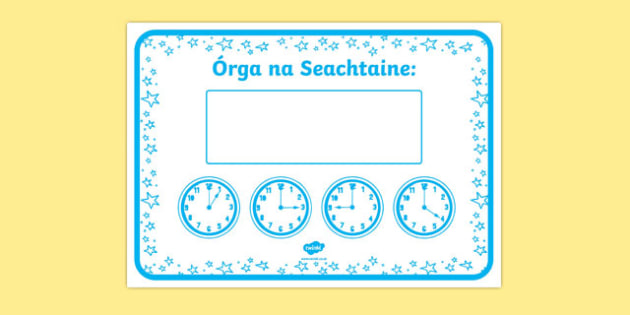 Am Órga na Seachtaine Display Poster-Irish