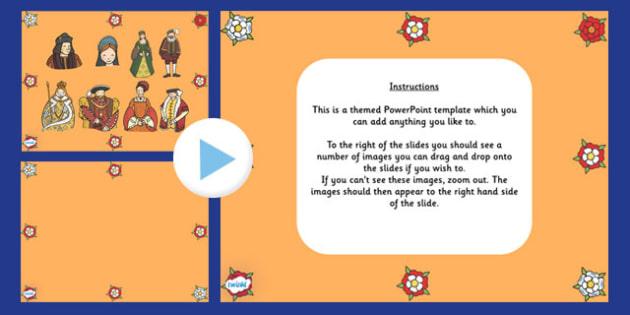 Tudor Themed Editable PowerPoint Background Template - tudor, editable powerpoint, powerpoint, background template, themed powerpoint, editable, tudor themed