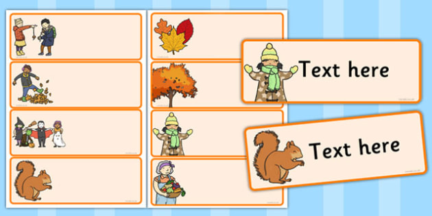 Editable Drawer - Peg - Name Labels (Autumn) - Classroom Label Templates, Resource Labels, Name Labels, Editable Labels, Drawer Labels, Coat Peg Labels, Peg Label, KS1 Labels, Foundation Labels, Foundation Stage Labels, Teaching Labels