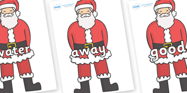 Next 200 Common Words on Father Christmas - Next 200 Common Words on  - DfES Letters and Sounds, Letters and Sounds, Letters and sounds words, Common words, 200 common words