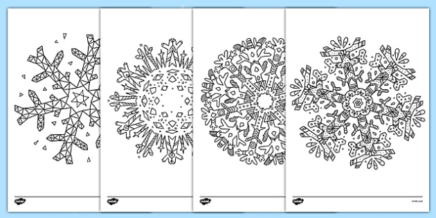 Mindfulness Colouring Snowflakes - mindfulness, colouring, snowflakes, colour