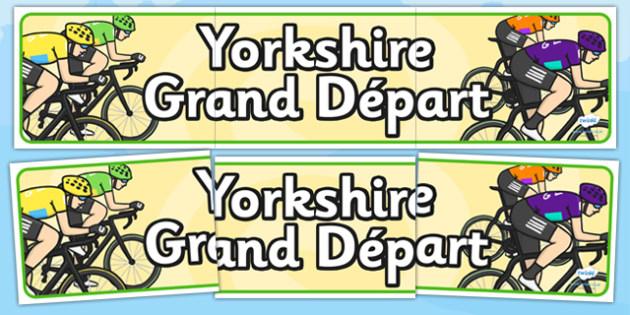 Yorkshire Grand Départ Display Banner - le tour, france
