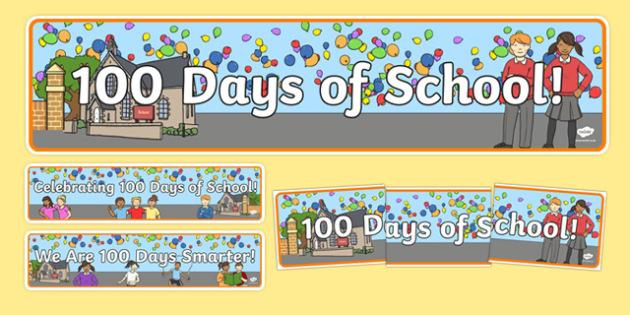 100 Days of School Display Banner